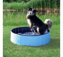 Bazén pro psy 80 x 20 cm světle modrá/modrá VÝPREDAJ
