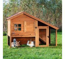 Natura drevený dom s výbehom pre králiky 151x107x80 cm