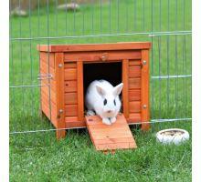 Drevený domček NATURA morča, králik 42x43x51cm