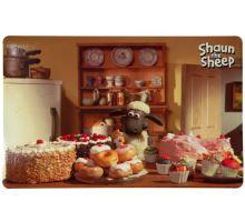 Ovečka Shaun prostírání pod misky, fotka Shaun pekař 44x28cm