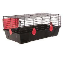 Klietka SMALL ANIMAL Michal čierna s červenou výbavou 1ks