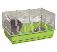 Klietka SMALL ANIMAL Richard šedo-zelená so zelenou výbavou 1ks