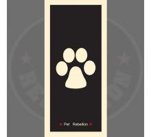 PET REBELLION- Běhoun, černý, 45 x 100cm