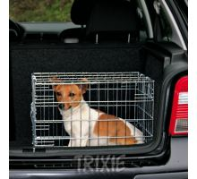Klietka do auta pre psa kovová 64x54x48cm 2x dvere TR