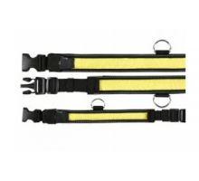 Obojek blikací nylon žluto/černý