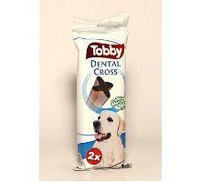 Pochúťka dentálnej TOBBY DENTAL CROSS L 100g 2ks