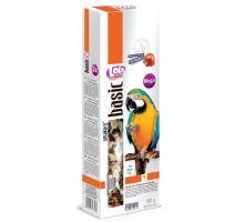 Lolo SMAKERS MEGA 2 klasy ovocné pre veľké papagáje 450g