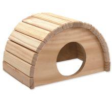 Domček SMALL ANIMAL Polkruh drevený 24 x 17 x 15 cm 1ks