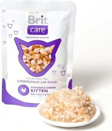 Brit Care Cat vrecko KITTEN Chicken & Cheese Pouch 80g