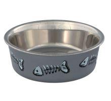 Nerez miska pre mačky s farebnou potlačou 0,3 l / 12 cm