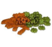 CARROT CLOVER MIX - mrkvičky a štvorlístky pre hlodavce 1 kg