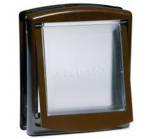 Dvierka STAYWELL hnedá s transparentným flap 730 1ks
