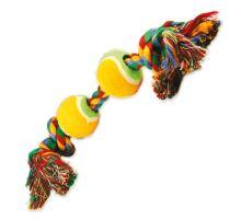 DOG FANTASY farebná 2 knôty + 2 tenisáky 35 cm 1ks