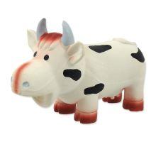 DOG FANTASY Latex krava so zvukom 18 cm 1ks