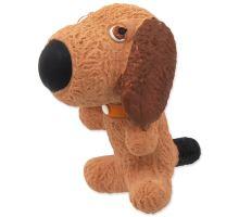 DOG FANTASY Latex pes so zvukom 9 cm 1ks
