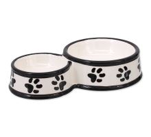 Dvojmiska DOG FANTASY keramická potlač labka biela 25 cm 0,42l